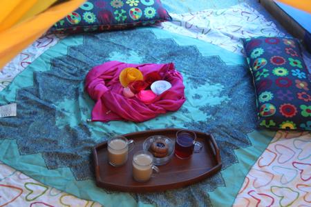 tent set-up