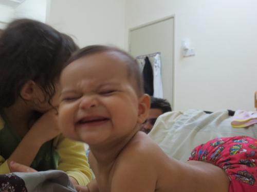 Her big grin!