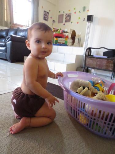 """""""I'm just sitting around choosing my own toys, no biggie, Mama!"""""""