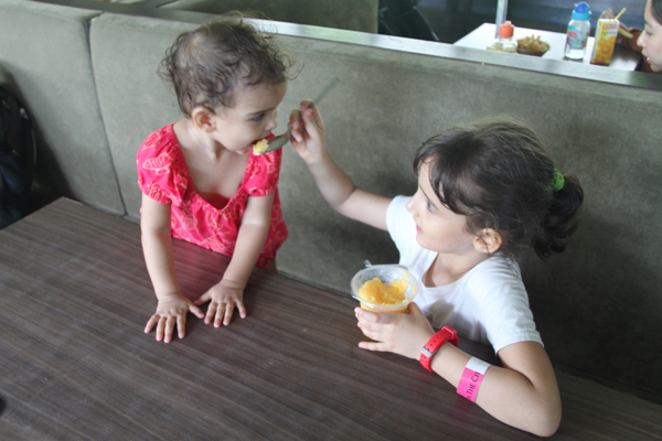 cooling down with some mango sorbet